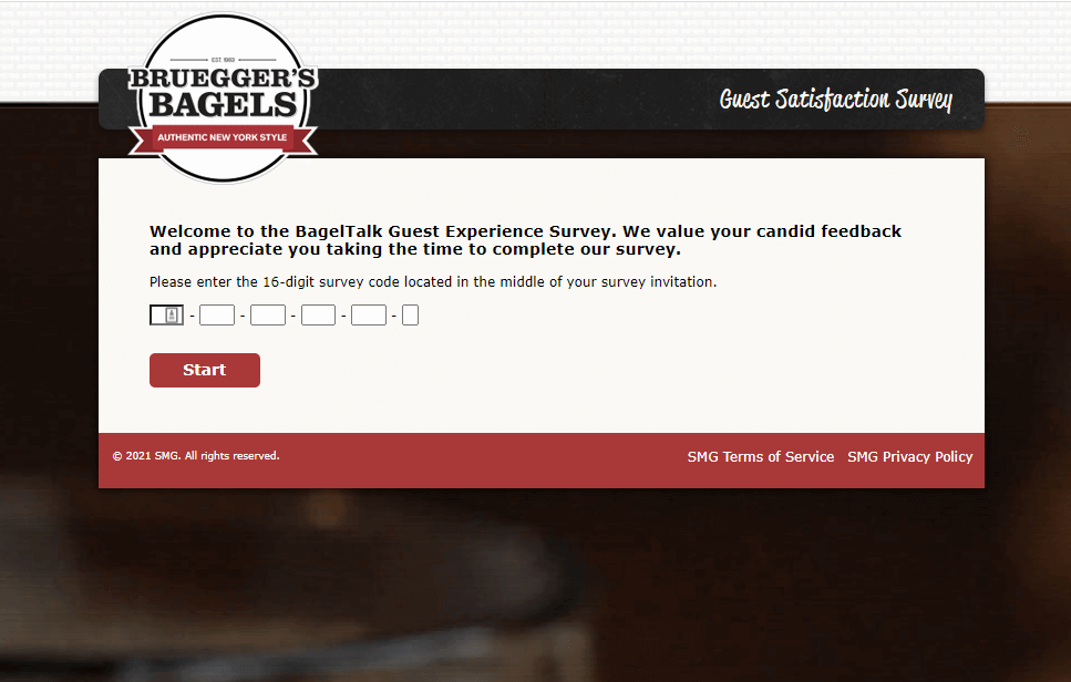 Bruegger's Guest Satisfaction Survey