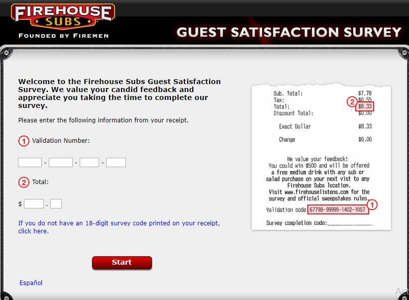 Firehouse Listens Survey step 1