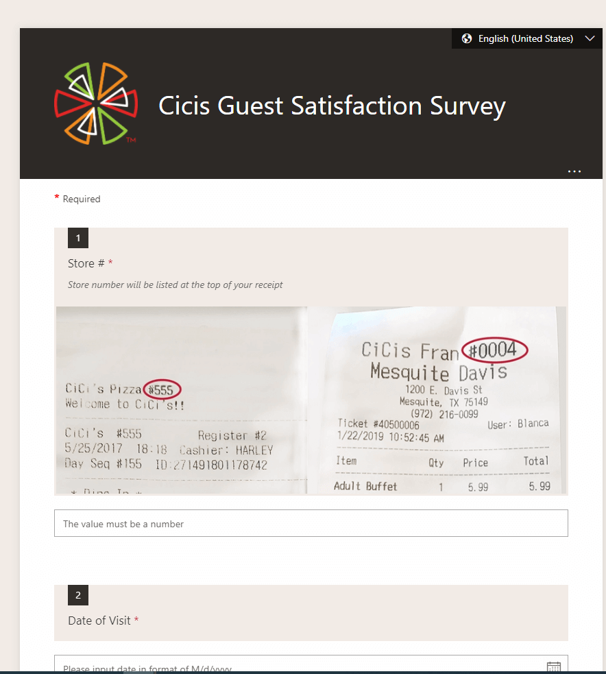 www.cicis.com/survey-splash page