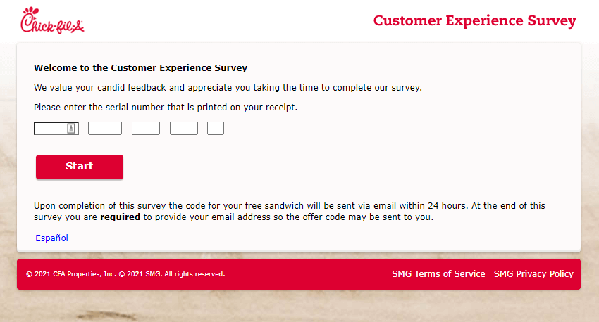 www.mycfavisit.com survey