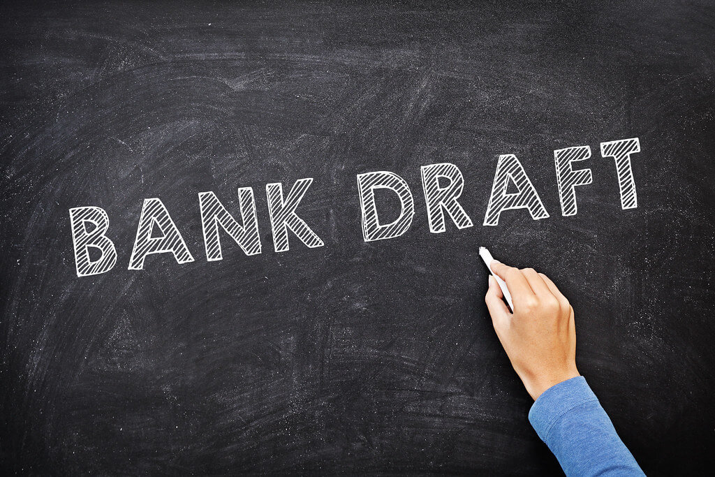 What is a bank draft?